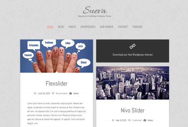SUEVAFREE 17 лучших бесплатных WordPress тем в октябре 2013