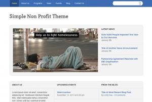 Simple Non-Profit WordPress Theme