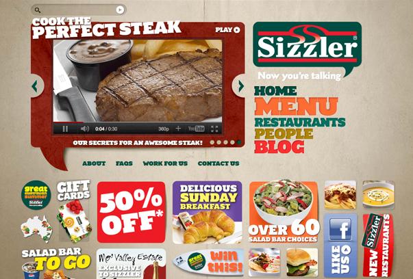 Sizzler 30 самых необычных и красивых сайтов, сделанных на WordPress по версии WPlift.com