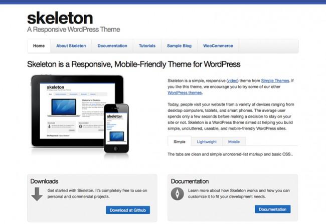 Skeleton 650x448 26 лучших бесплатных WordPress тем в апреле 2014