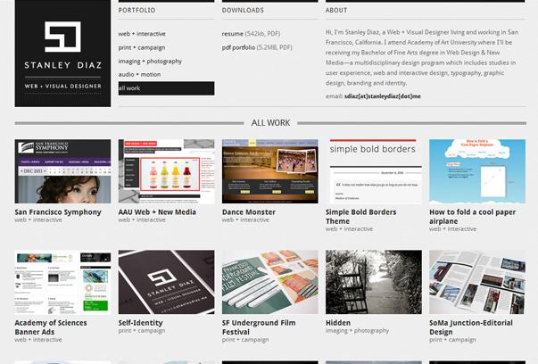 Stanley-Diaz 30 самых необычных и красивых сайтов, сделанных на WordPress по версии WPlift.com