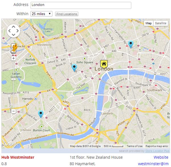 Store Locator 05 Добавляем локацию мест Google Maps на ваш WordPress сайт