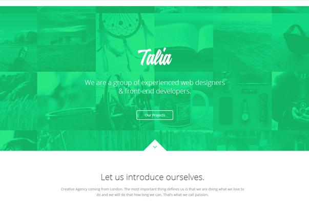 TALIA 35 бесплатных и платных тем WordPress для одностраничных сайтов визиток