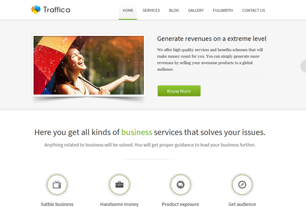 TRAFFICA 17 лучших бесплатных WordPress тем в октябре 2013