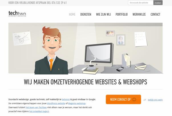 Tech-Two 30 самых необычных и красивых сайтов, сделанных на WordPress по версии WPlift.com