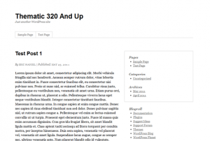 Thematic 320 and Up