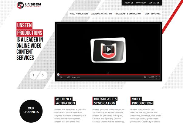 Unseen-Productions 30 самых необычных и красивых сайтов, сделанных на WordPress по версии WPlift.com