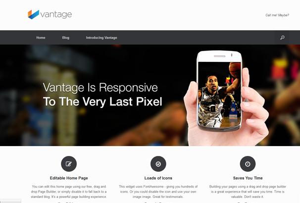VANTAGE 17 лучших бесплатных WordPress тем в октябре 2013