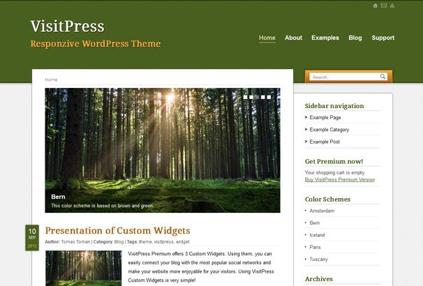 VISITPRESS 17 лучших бесплатных WordPress тем в октябре 2013