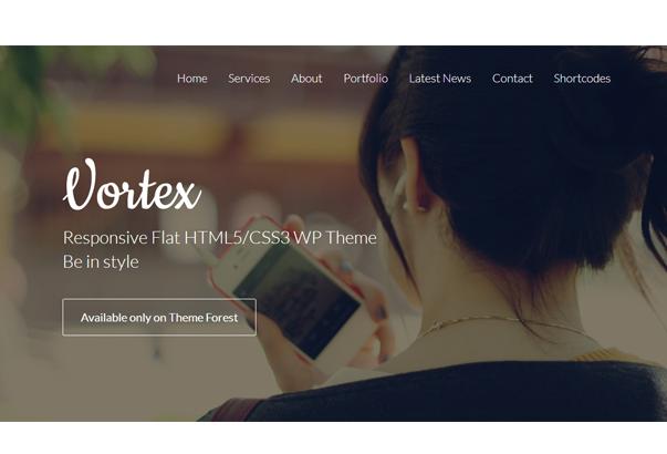 VORTEX2 35 бесплатных и платных тем WordPress для одностраничных сайтов визиток