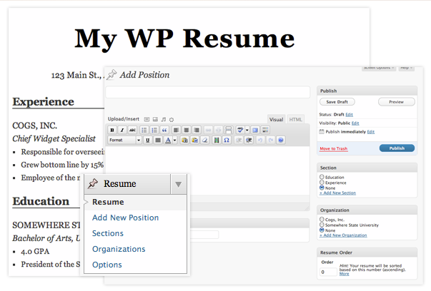 WP RESUME PLUGIN