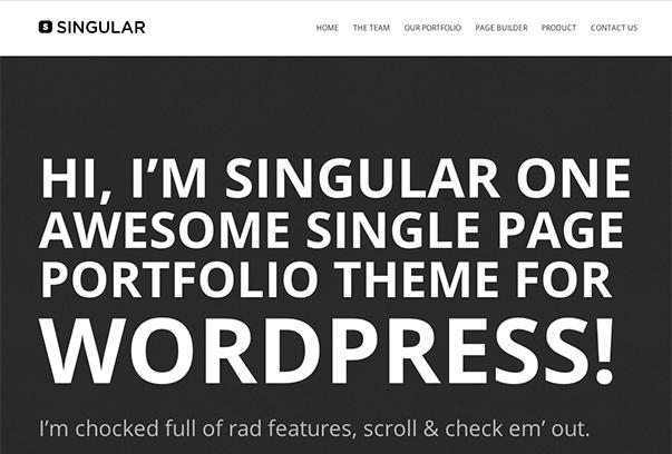 WP SINGULAR1 35 бесплатных и платных тем WordPress для одностраничных сайтов визиток