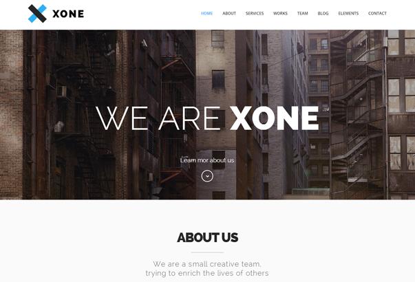 XONE 35 бесплатных и платных тем WordPress для одностраничных сайтов визиток
