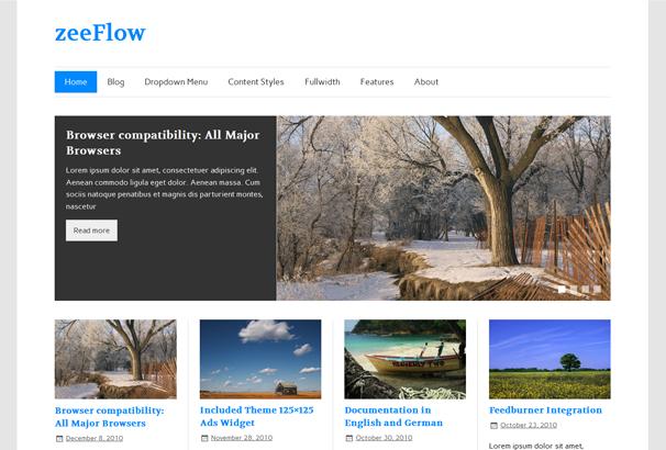 ZEEFLOW 17 лучших бесплатных WordPress тем в октябре 2013