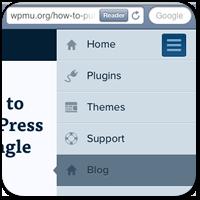 Как сделать простое адаптивное меню для WordPress сайта