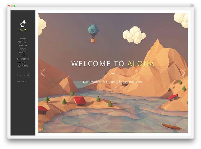тема alona для творческих сайтов вордпресс
