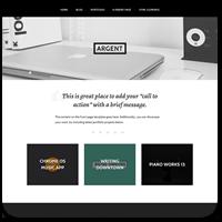 Argent — бесплатная тема от WordPress.com для современного сайта портфолио