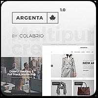 Argenta — креативная многоцелевая тема WordPress для решения любых задач