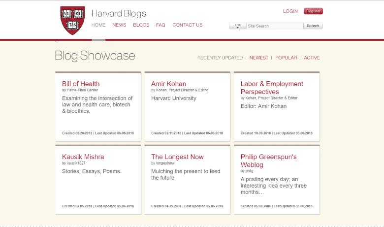 Гарвардские блоги
