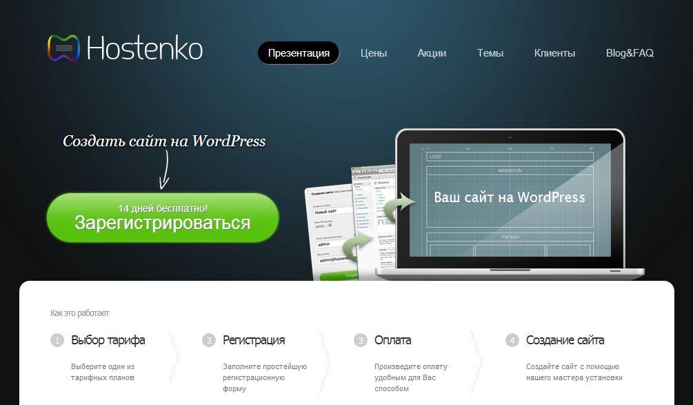 Создать сайт на wordpress офлайн