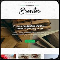 Breviter — красивая и бесплатная тема WordPress для креативных блогеров