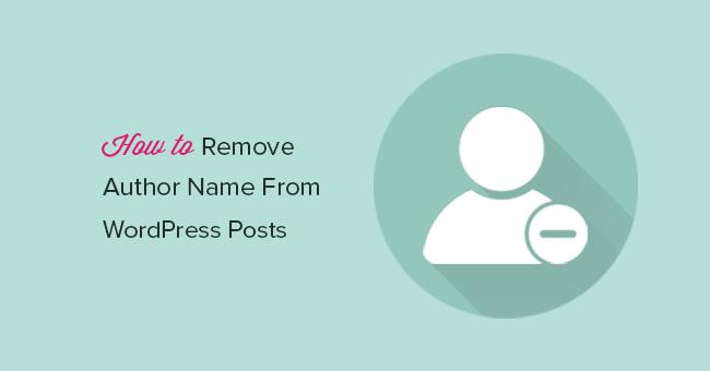 Как убрать имя Автора из постов на WordPress