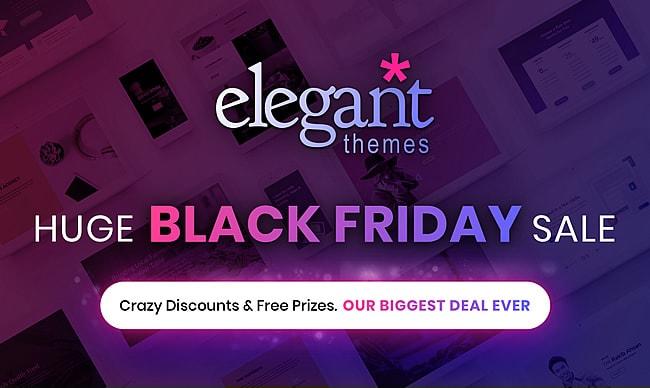 Black Friday! Скидки -25% на Divi 3.0 и все другие темы от Elegant Themes