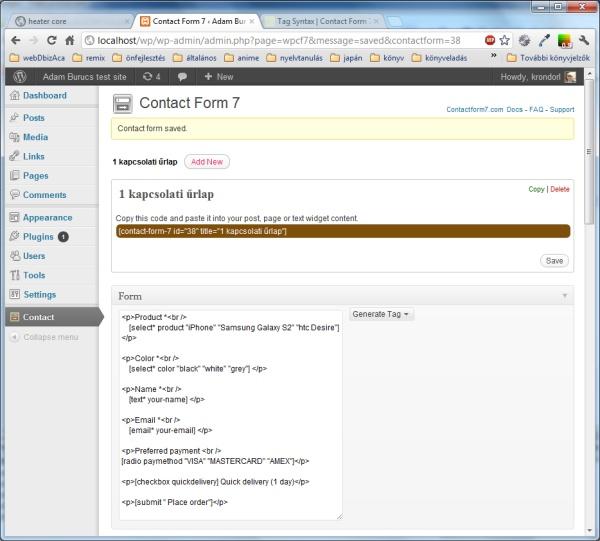 обратный звонок для wordpress всплывающая форма