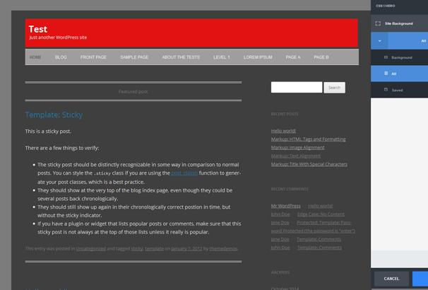 Редактируем CSS-стили вашей темы WordPress на лету с помощью плагина CSS Hero