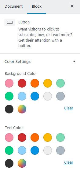 дизайн кнопок на WordPress