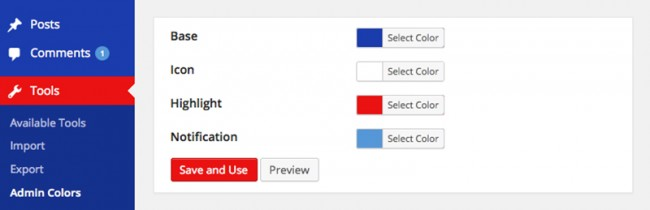 co03 650x210 Меняем цветовую схему в Консоли WordPress — 10 бесплатных плагинов