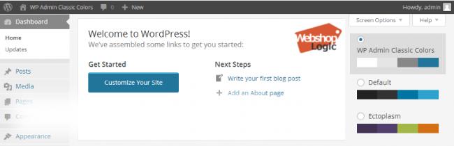 co041 650x210 Меняем цветовую схему в Консоли WordPress — 10 бесплатных плагинов