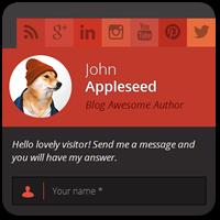 Добавляем красивую контактную форму в виде бокового слайда на сайте WordPress