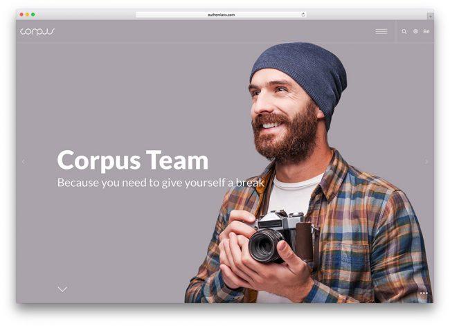 corpus вордпресс тема