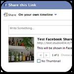 Публикация записей в Facebook с миниатюрой и описанием