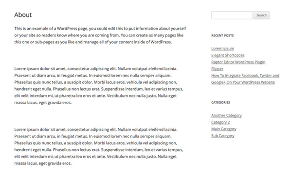шаблоны страниц сайта: