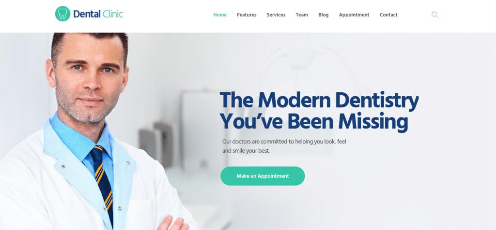 стоматологическая клиника WordPress тема