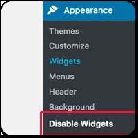 Как отключить лишние или ненужные Виджеты в админке на WordPress