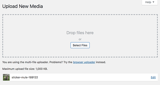 file upload success
