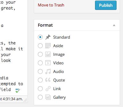 formats Что такое Форматы постов в WordPress и для чего они нужны