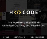 H-Code — многозадачная премиум тема с 58 домашними страницами и 197 шаблонами