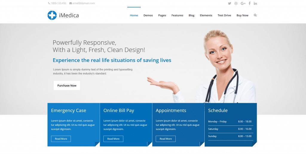 шаблон wordpress для стоматолога imedica