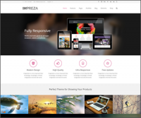 Impreza — новая многозадачная премиум тема на WordPress для сайта портфолио