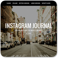 Instagram Journal — плагин WordPress для вывода лент Instagram на вашем сайте