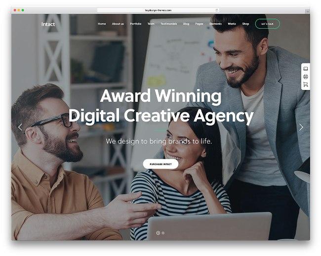 тема вордпресс intact creative agency