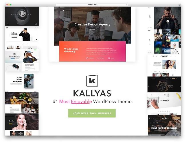 креативная тема kallyas вордпресс