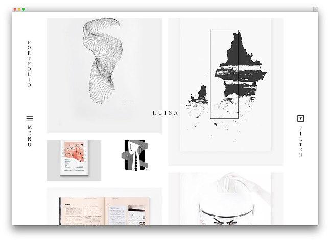 креативная тема luisa вордпресс