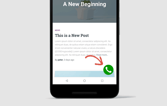 кнопку Click-to-Call в WordPress
