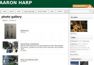 photo gallery « Aaron Harp