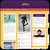 27 отборных тем WordPress с разметкой в стиле Pinterest